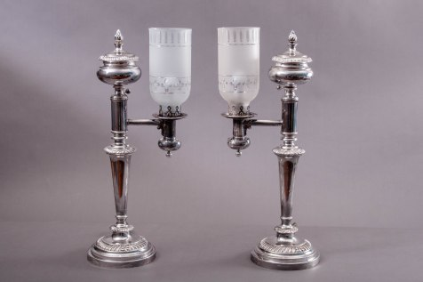 L-JWM-Sheffield Argand Lamps by Boulton