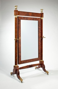 M-Phyfe Bronze-Mounted Cheval Glass