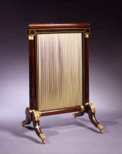 O-Phyfe Rosewood Fire Screen001