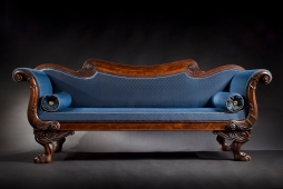 S-C-0912171-Carved Mahogany Boston Sofa