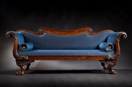 S-C-0912171-Carved Mahogany Boston Sofa