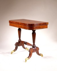 T-Cd-Phyfe Brass-Inlaid Games Table