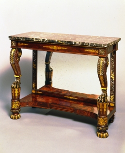 T-P-95351 Gilt Decorated Carved Quervelle Pier Table