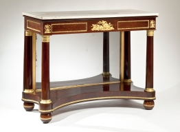 T-P-Bronze-Mounted Rosewood Boston Pier Table
