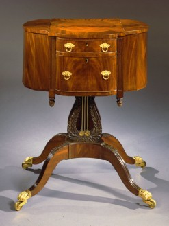 T-W-9612192 Philadelphia Lyre-base Work Table