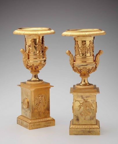 Mt-Pignot Gilt-Bronze Urns